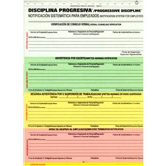 progressive discipline forms template